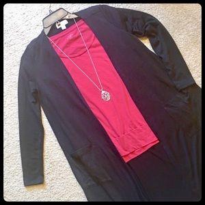 NWOT SOLID BLACK Cardigan Sweater